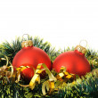 Christmas decoration of objects - 图库照片