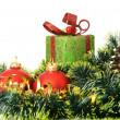 Christmas gift and decorative objects. — Stock Photo