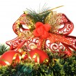Christmas decoration of objects — Stock Photo