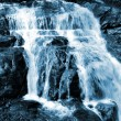 Stock Photo: Waterfall blue toned