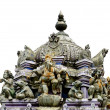 Stock Photo: Detail Hindu temple isolated