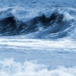 Big waves ocean blue toned — Stock Photo