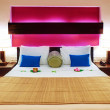 Room in a hotel warm color — Stock Photo