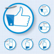 Постер, плакат: Like and other finger other finger gestures
