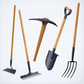 Gardening tools. — Stock Vector