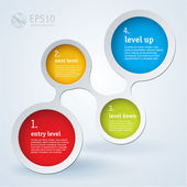 Simply infographic step by step vector template — Stock Vector