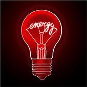 Energy electric light bulb. — Stock Vector