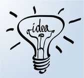 Creative idea in bulb shape as inspiration concept. — Cтоковый вектор