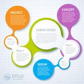 Simply infographic step by step template — Stockvektor