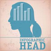 Einfach minimal infographik template-design. — Stockvektor