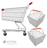 Shopping supermarket cart. — Stock Vector