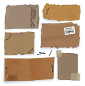 Riped cardboard tags. — Stock Vector