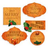 Natale e capodanno. — Vettoriale Stock