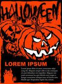 Halloween poster vector template — Stock Vector
