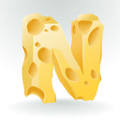 Cheese vector ABC. — Stok Vektör