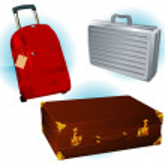Vector travel bags set. — Stock Vector #45100999