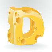 Cheese vector ABC. — Stock Vector