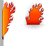 Burning bookmarks. — Stock Vector
