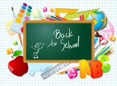 Back to school vector template. — Stockvektor