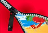 Unzip Summer! — Stock Vector