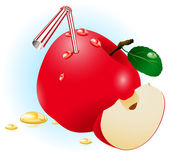Red apple. — Stock Vector
