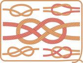 Knots. Vector. — Vetor de Stock