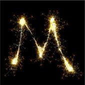Wektor brylant alfabet. — Wektor stockowy