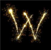 Vector sparkler alphabet. — Stock Vector
