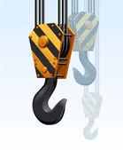 Construction crane hook — Stock Vector