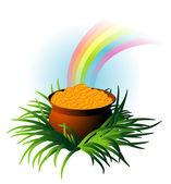 Magic pot. — Stock Vector