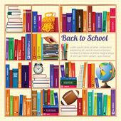 Bookshelves. — Stock Vector