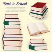 Books. Vector design elements. — Stock Vector
