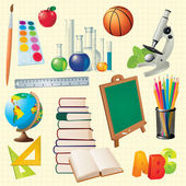 Science Back to School Vector Design Elements. — Stockvektor
