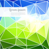 Blue and green edged vector background. — Stock Vector