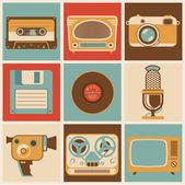 Retro media. — Vector de stock