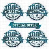 100 percent badges. — Stock Vector