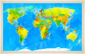 Stylized vector world map. — Stock Vector