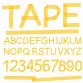 бумажные ленты алфавита шрифт. — Cтоковый вектор