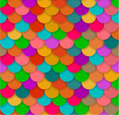 Seamless glossy rainbow scale background. — Stock Vector