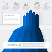 Blue infographic chart template. — Stock Vector