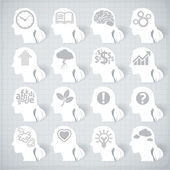 Thinking heads. — Stock Vector