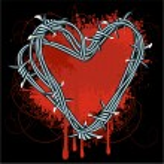 Barbed heart. — Stock Vector #45149113