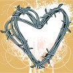 Barbed heart. — Stock Vector #45149129