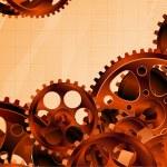 Gear wheels vector background. — Stock Vector