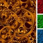 Gear wheels seanless vector background. — Stock Vector