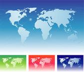 Mapa světa. — Stock vektor