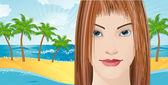 Paradise island. — Stock Vector