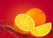 Astratto arancio. — Vettoriale Stock