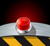 γυαλιστερή κουμπί. — Stock vektor