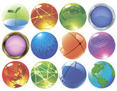 Glossy spheres and globes. — 图库矢量图片
